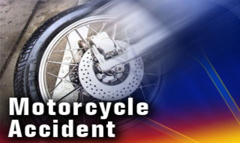 Motorcycle accident sends male, female to the hospital