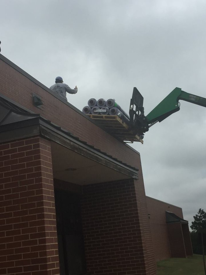 Successful bond issue under way with new roof at GUES