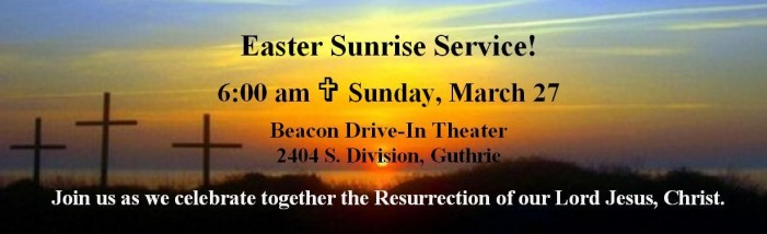 Ministerial Alliance will hold Easter SonRise at the Beacon Drive-In Theater