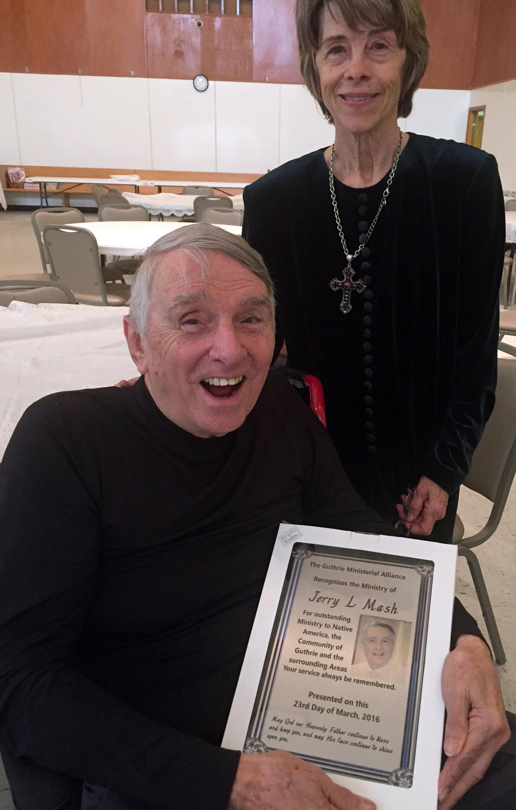 Rev. Dr. Jerry Mash honored at Lenten Lunch for 30 years of service