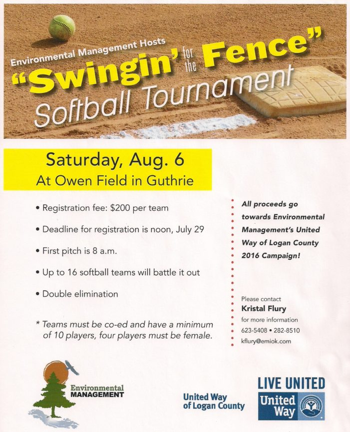Softball tournament to benefit United Way Logan County