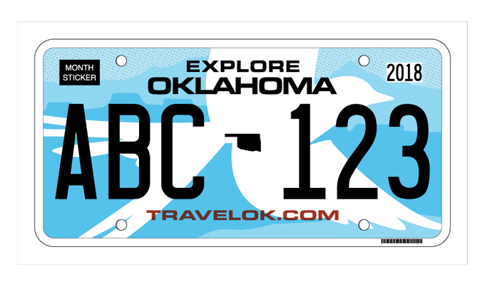 Gov. Fallin, state agencies reveal new license plate design