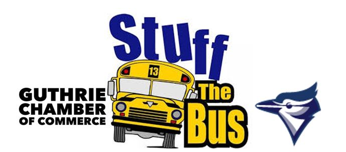 Guthrie Chamber helping students with Stuff the Bus