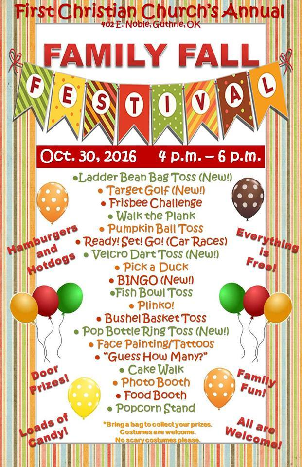12th annual Family Fall Festival set for Oct. 30