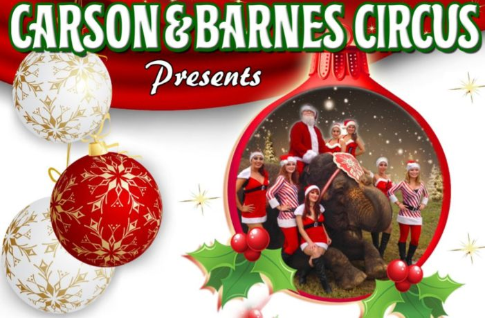 Circus coming to town with two shows on Dec. 6