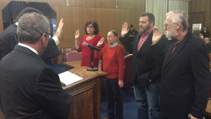 Video: Logan County officers sworn into office