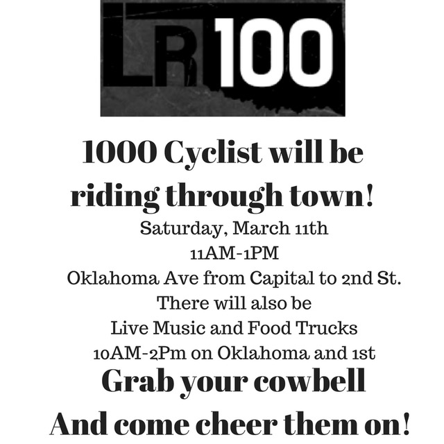 1000 cyclist coming through Guthrie on Saturday