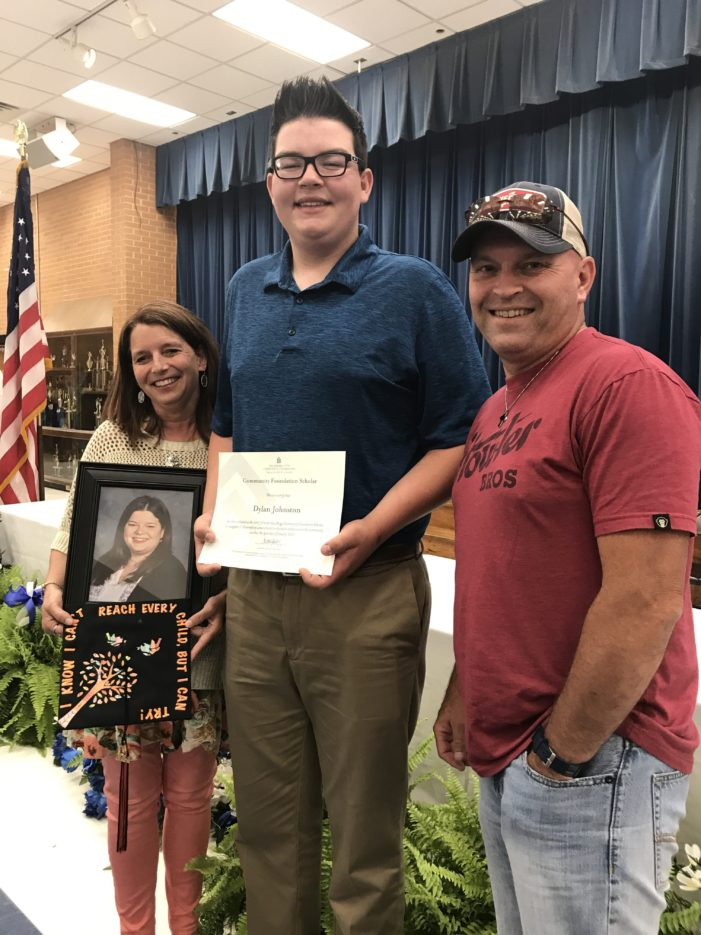 GHS student receives first-ever scholarship in teacher's memory