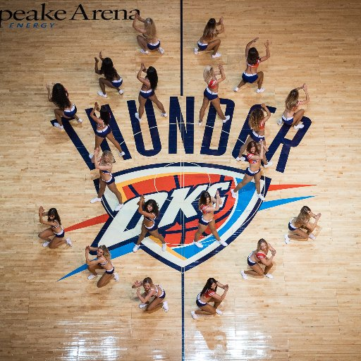 OKC Thunder Girls visit the Frontier Country Museum in Crescent