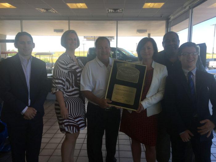 Vance Country Ford awarded prestigious President's Award