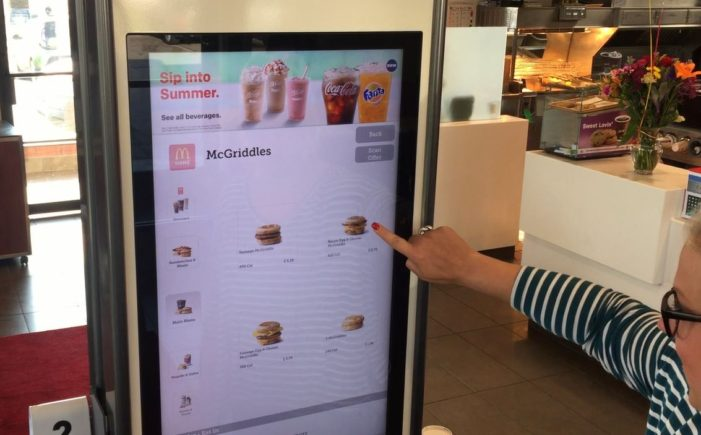 McDonald's debuts self-service kiosks