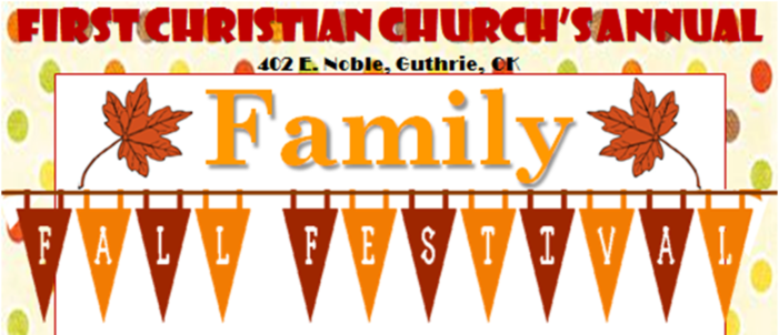 13th Annual Family Fall Festival set for First Christian Church
