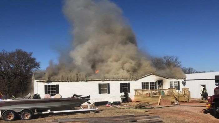 House destroyed in eastern Logan County by flames
