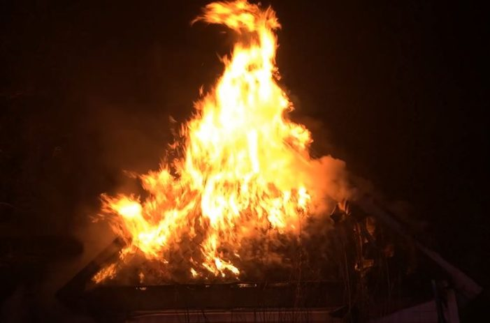 Video: Fire destroys home on Guthrie's east side