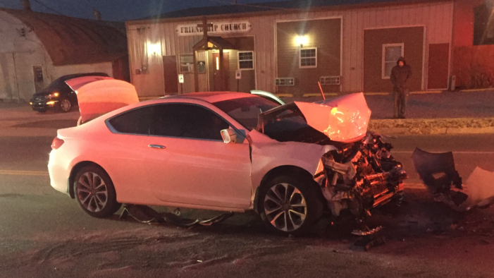 Early morning two vehicle wreck blocks Division St.