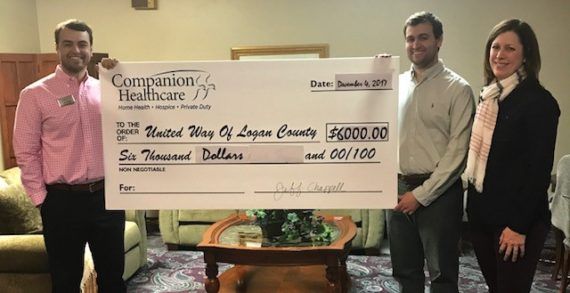 Companion Healthcare makes donation to United Way