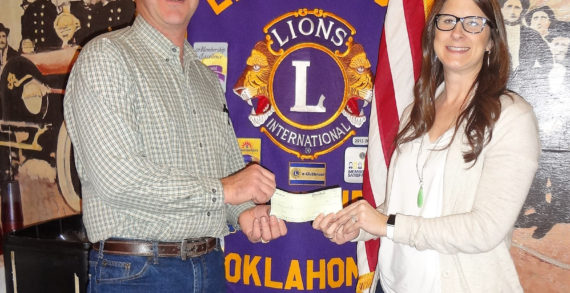 Guthrie Noon Lions Club donates to the YMCA