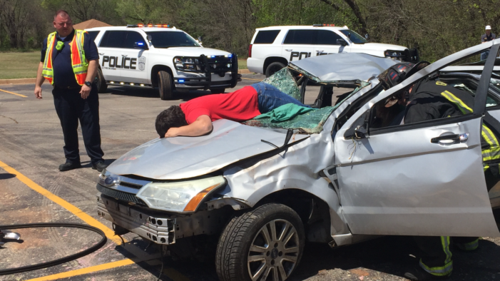 Video: Guthrie students witness mock DUI fatality accident