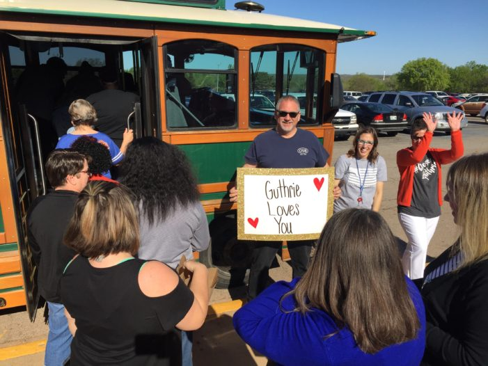 Video: School support staff greeted with appreciation, snacks