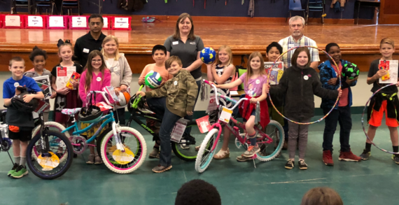 Fogarty students awarded with bicycles with Kiwanis BUG program