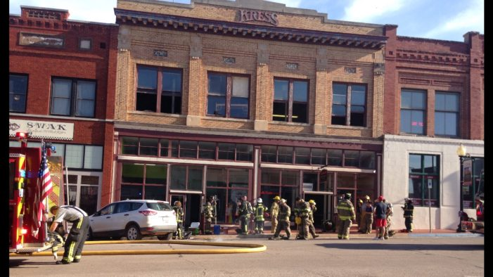 Downtown building damaged by fire