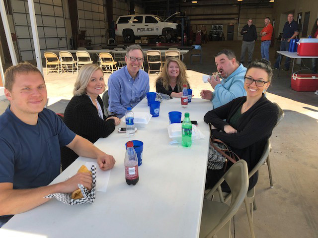 F&M Bank appreciates City of Guthrie with lunch