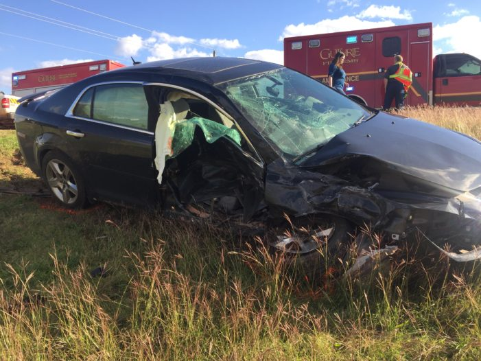 Video: Two people transported to hospitals following accident on Highway 33