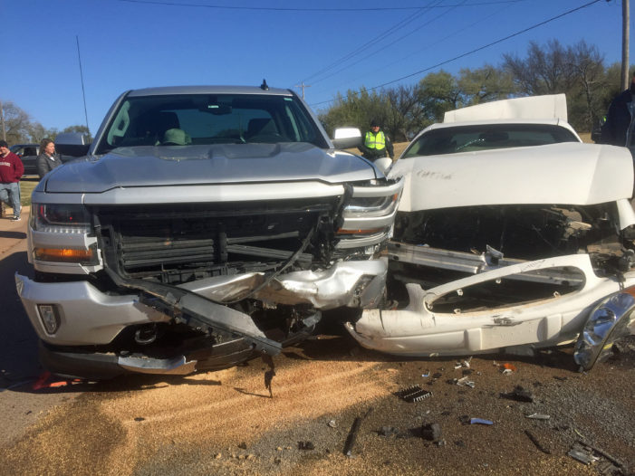 Three vehicle accident blocks Division Street