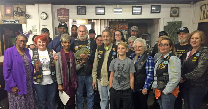 Territorial Riders donate $1,000 for General Daniels Dinner