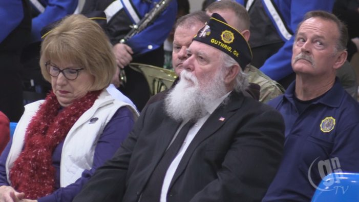 Watch: Veterans Day ceremony held at Guthrie High School