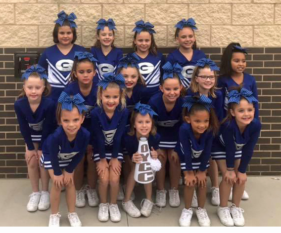 Guthrie Youth cheerleaders receive sportsmanship award