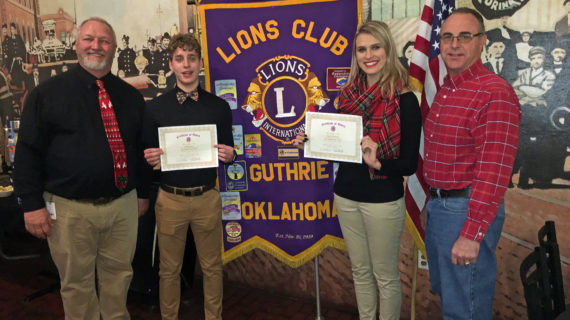 Duehning, Lacina named Lions Club Students of the Month