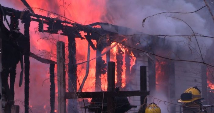 Video: Fire destroys mobile home on Kiamichi Lane