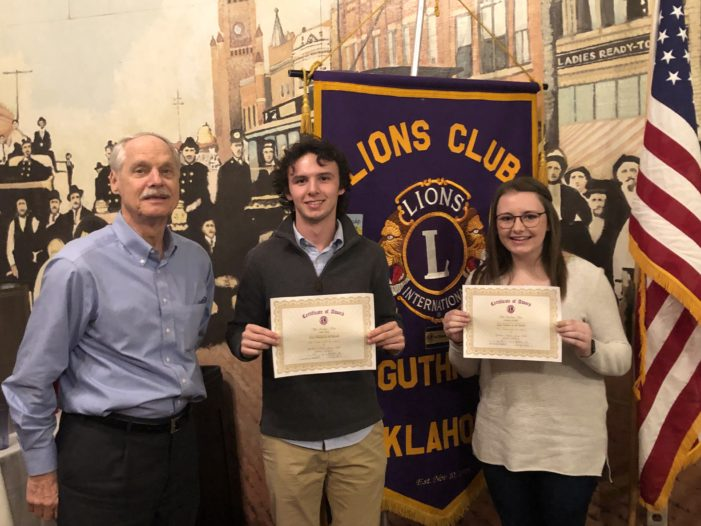 Cordell, Dale named Lions Club Students of the Month