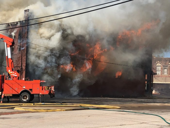 Flames destroy historic downtown buildings