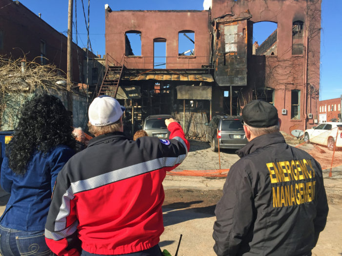 Oklahoma Emergency Manager tours downtown fire