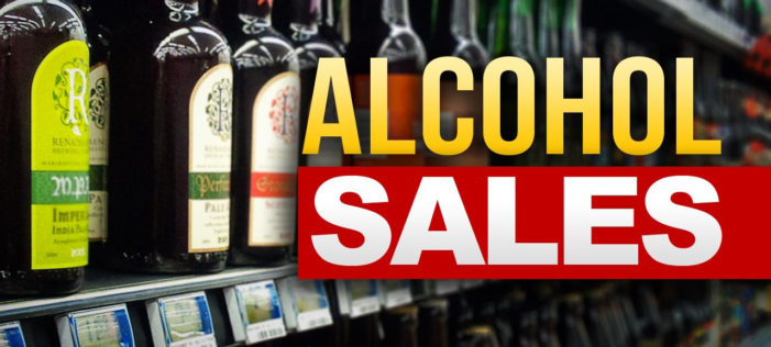 Alcoholic beverage tax up 178 percent in March