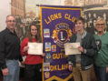 Davenport, Nelson named Lions Club Students of the Month