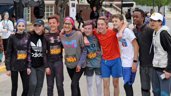 Runners brave the cold and rain for Run4Lexi Color Run