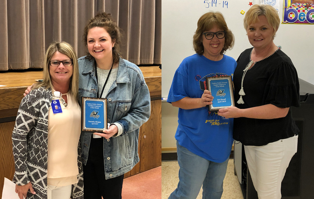 Morgan, Stovall named GPS Employees of the Month