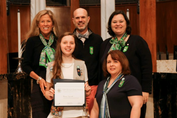 Three Guthrie Girl Scouts receive highest award