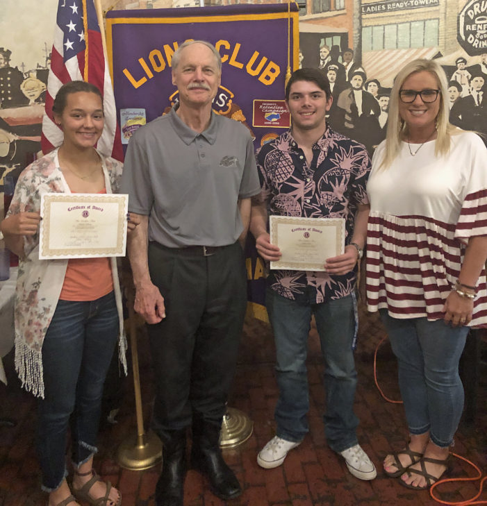 Williams, Lawson named Lions Club students of the month