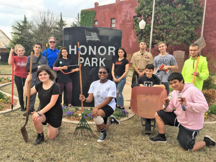 ROTC help spruce up Honor Park