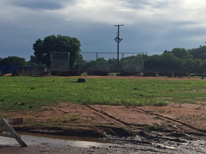 Flood waters moves little league baseball games